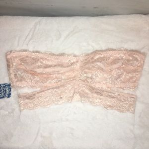 Free People Peach Deep in the Dark Lace Bandeau